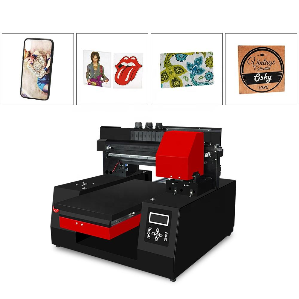 Industrial printer 3060 A3 + UV inkjet Printer for Epson DX9 for phone case glass PVC bottle metal leather printing