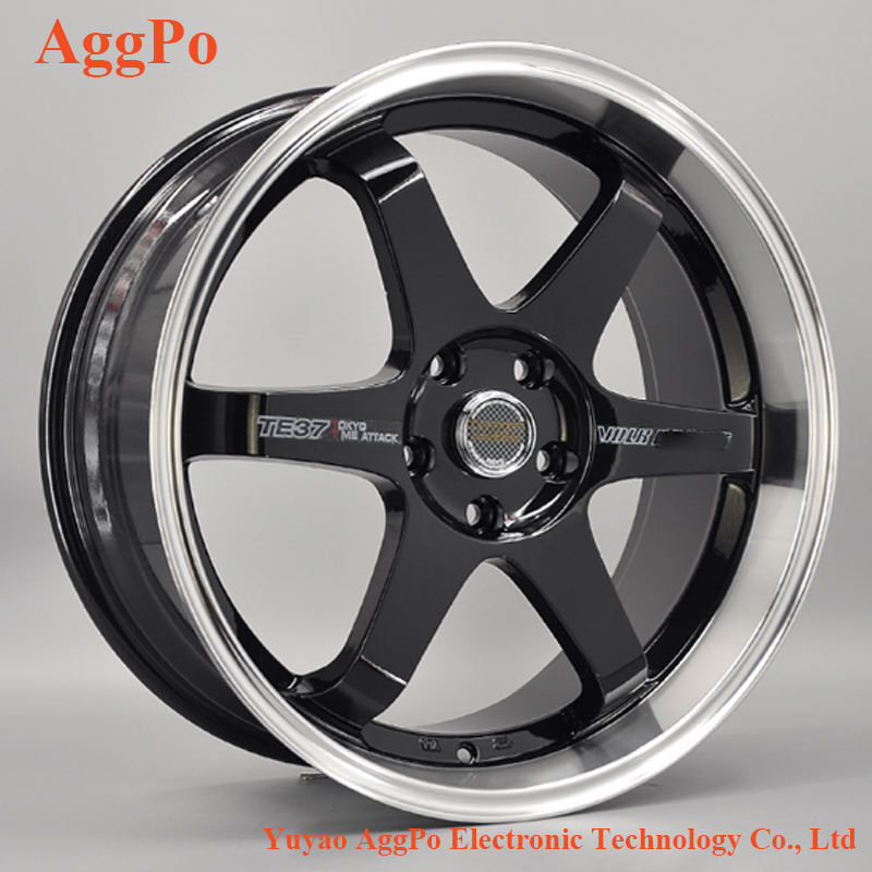 "Fit TE37 golf Car Rim 17 ""18"" 19 ""front and rear car wheel, passenger car wheel rim"