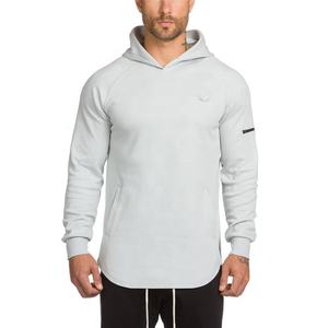 Mens Fashion Brand Hoodies Gym Wear Fitness Bodybuilding Pullover Sportswear High Compression Male Leisure Shirt Clothing
