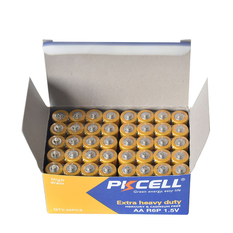 PKCELL brand 1.5v r6p aa battery with high good quality