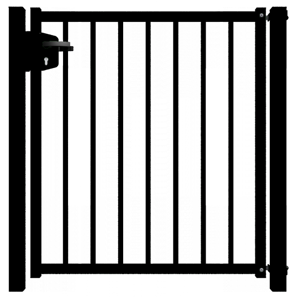 Factory wholesale modern design Decoration Wrought iron metal aluminum alloy gate