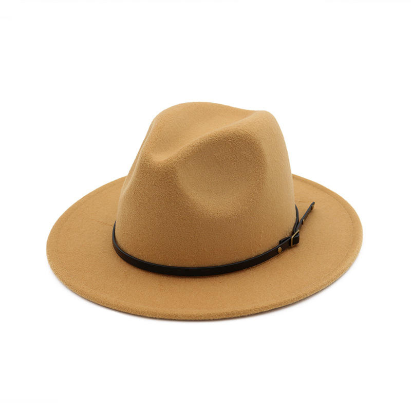 Fedora Hat Men Women Woolen Winter Women Felt Hats Men Fashion Black Top Jazz Hat Fedoras Chapeau Sombrero Mujer