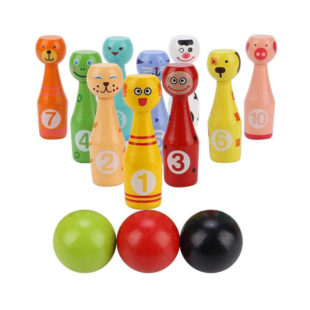 Wholesale Stuffed Animal Storm Plastic Soft Portable Bowling Ball Set Child Kids Toys Indoor