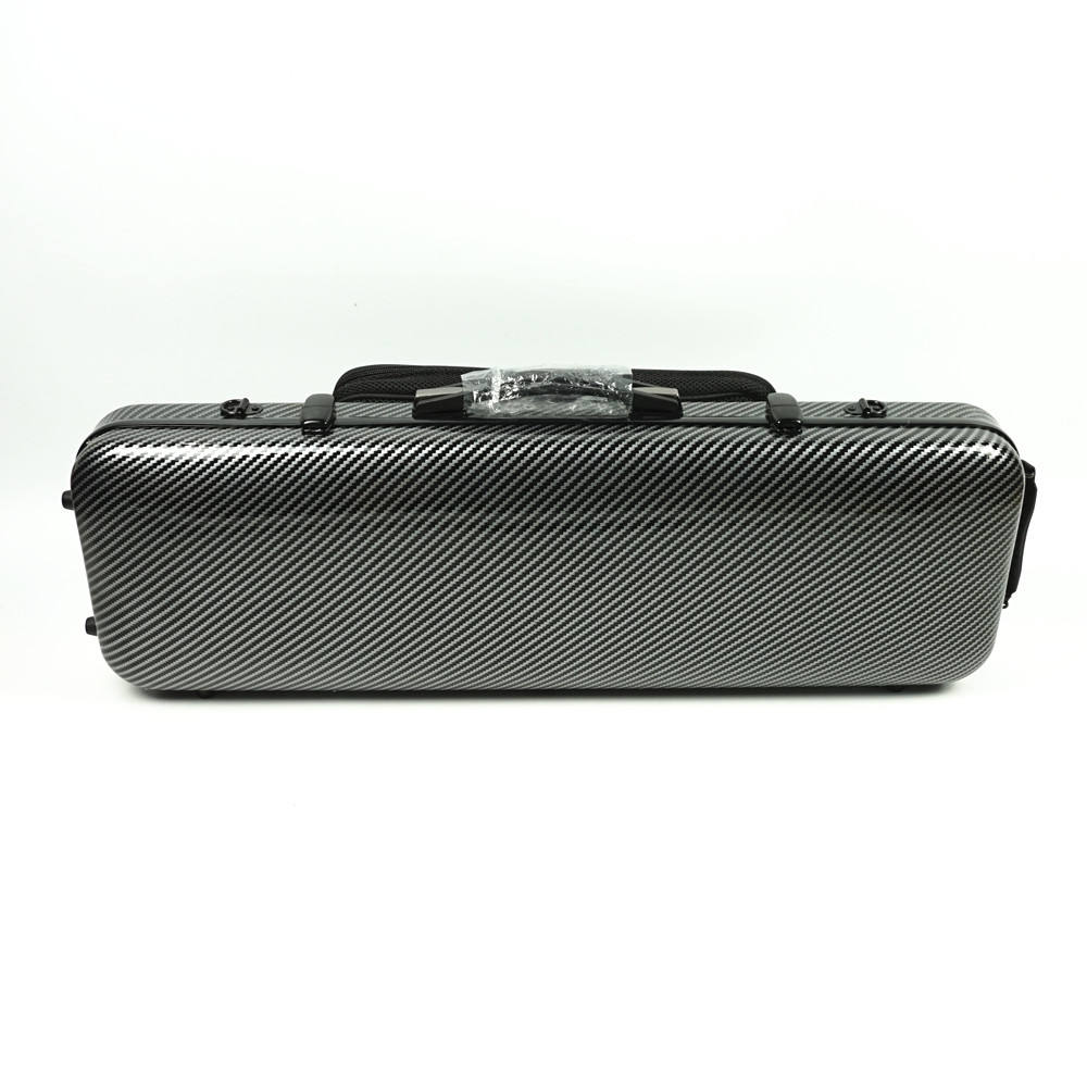Factory wholesale price oblong violin case carbon fiber violin case 4/4 with music sheet bag VF-06