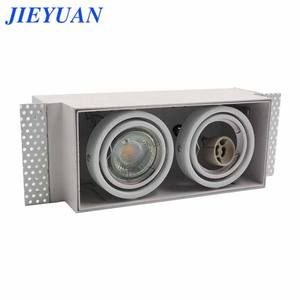 New Adjustable Grille Light LED GU10 Metal Lamp Shade Recessed Spotlight Cover MR16 LED Downlight Indoor Lamp Cover