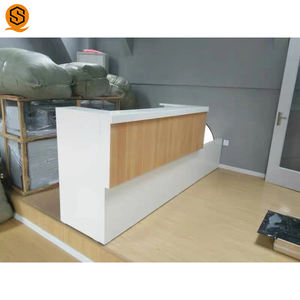 Custom design contemporary reception counter for retail store reception cashier counter for restaurant