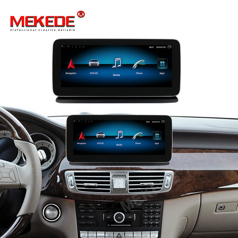 MEKEDE 4G SIM android 9.0 8core with 4+64GB car radio dvd player for Benz CLS class W218 2011-2012 NTG4.0 GPS BT Video STEREO