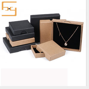 Amazon Unique Brown Kraft Paper Jewelry Gift Boxes