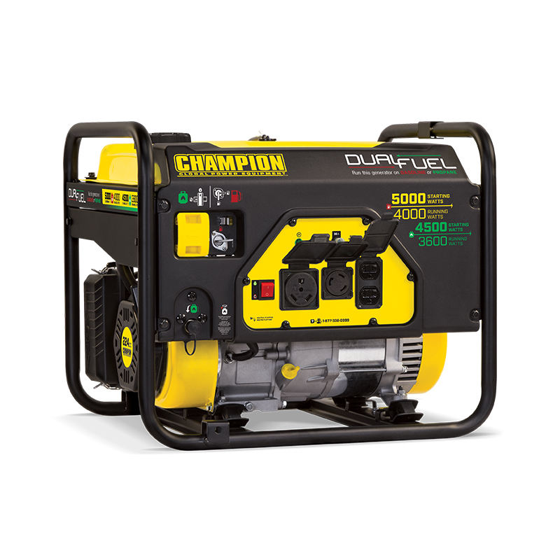 CHAMPION 5.5kw power small wholesale home standby dual fuel gas LPG gasoline portable generator