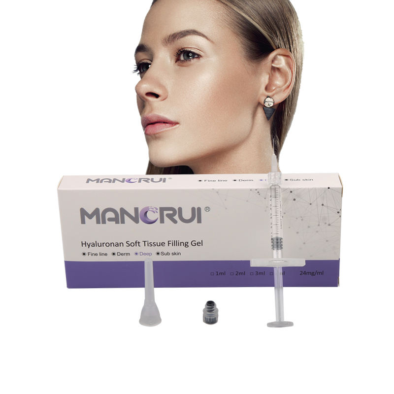 CE 인증서 히알루 론산 성분 1ml 24 mg/ml 얼굴 피부 필러