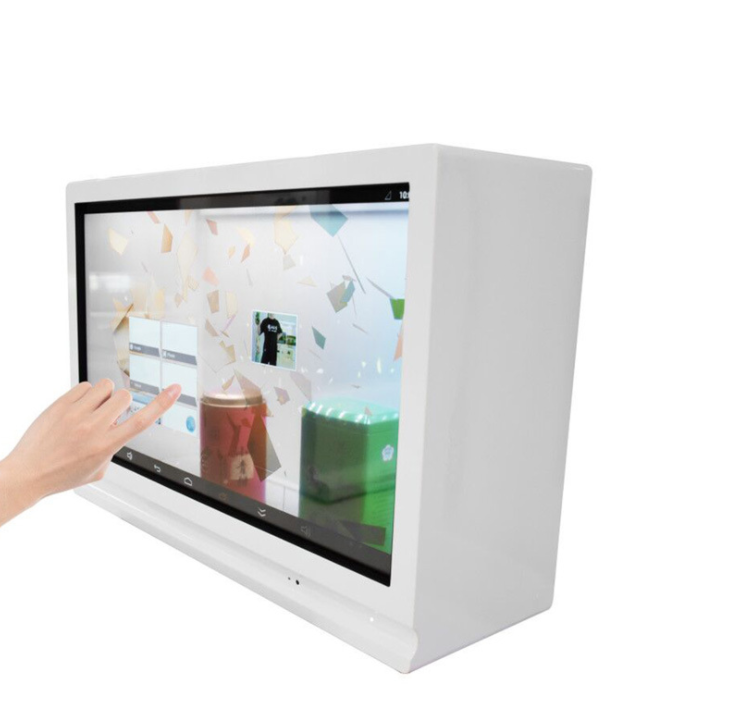 43 zoll stand android werbung digital signage und displays touchscreen LCD transparent box