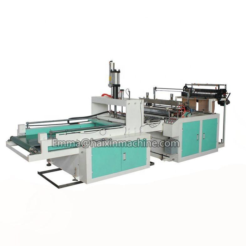 Full Production Line Double Layer Plastic PE Printing T-shirt Shopping Bag Making Machine Price@