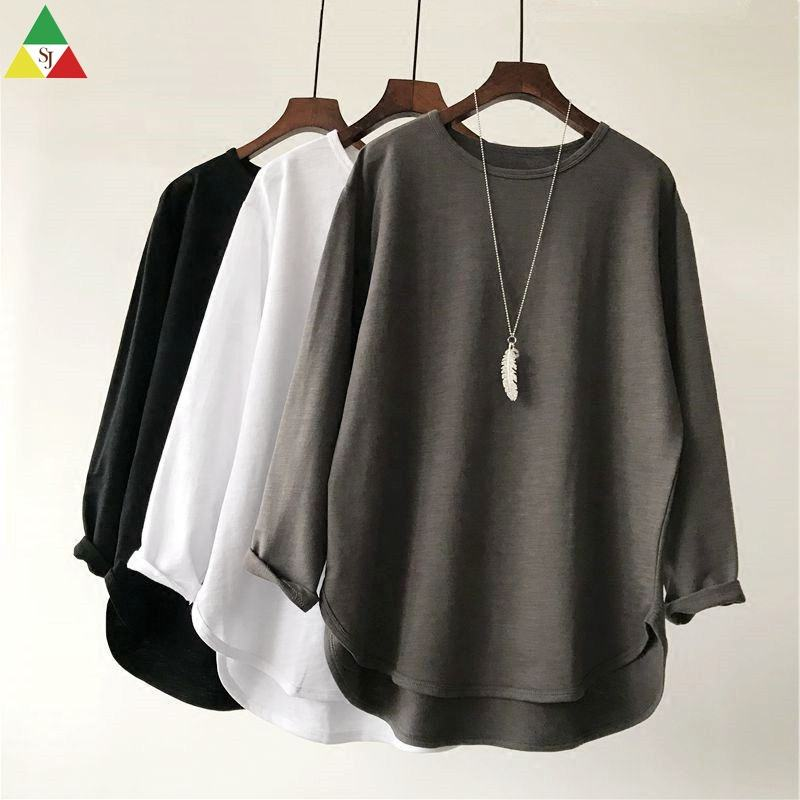 Wholesale Cotton T Shirt Women Bulk Plain Blank Tshirt In China