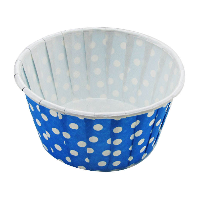 Brown with White Dots Disposable -100 pc. Floret Brioche Cup Bake and serve brioche floret paper baking cups self- standing mold
