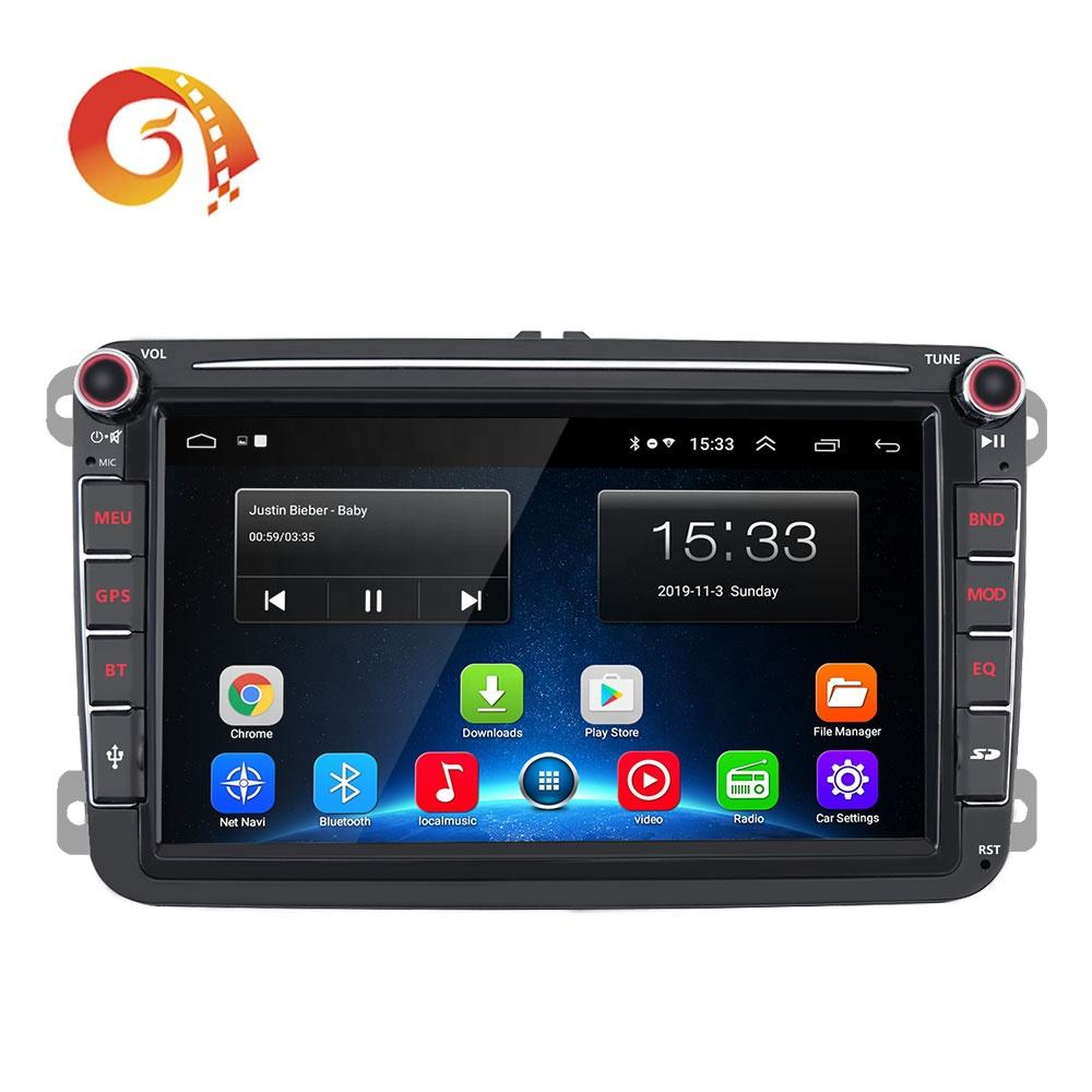 Armaturenbrett Multimedia Android 9,0 Radio Gps Navigation Auto-Video <span class=keywords><strong>Dvd</strong></span> Player Für Volkswagen Tiguan Touran
