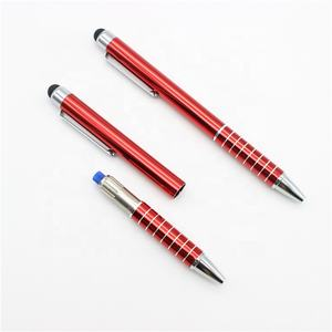 Corporate High-End Touch Screen Pen Gepersonaliseerde Gegraveerde Metalen Custom Logo Elektrische Schok Pen