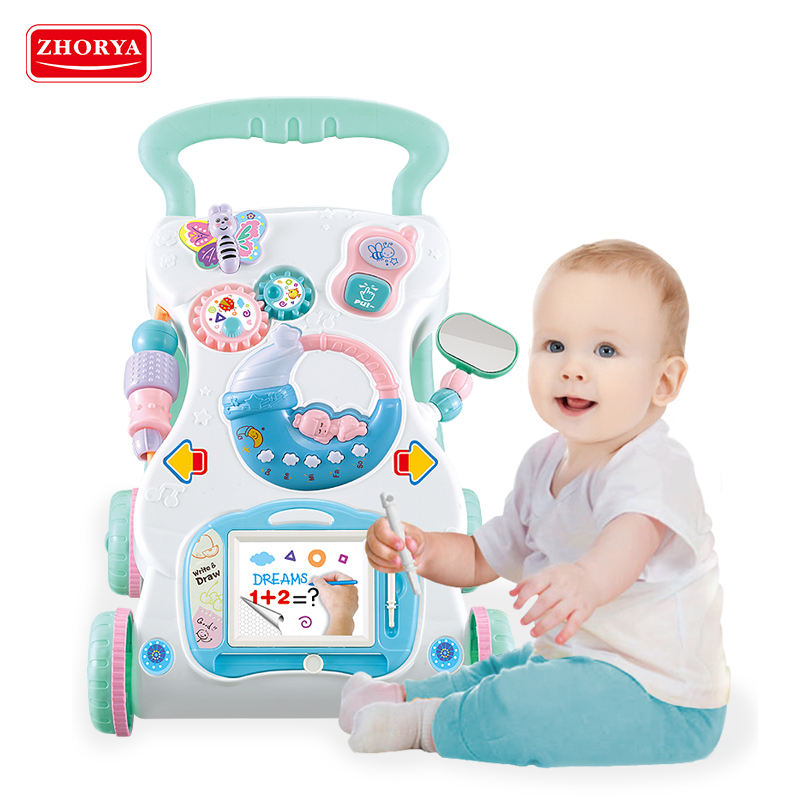 2020 New release baby musical toddler walker stroller learning multifunction baby push walker 4 in 1 with music for kid
