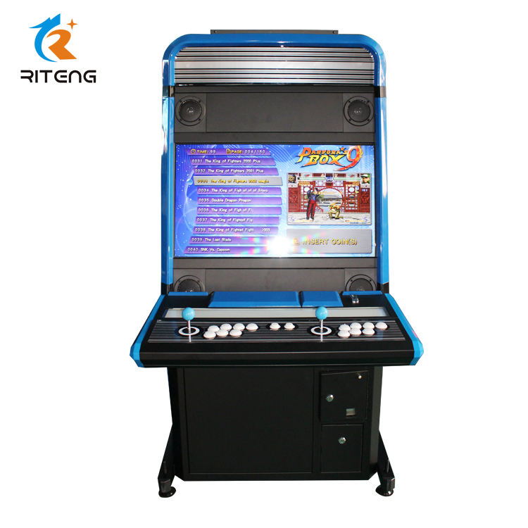 Full Size Kast 32 Inch Stand Up Arcade Game Machines Muntautomaat Pandora Box 3D 2448 In 1 Wifi