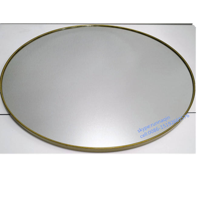 Hot selling spiegel round metal framed wall mirror home and hotel decor in 50 55 60 65 70 75 80cm in gold framed mirror espejos