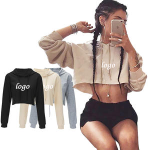 Custom Logo Women Sweat Absorption Sexy 4 Color Plain Tight Crop Top