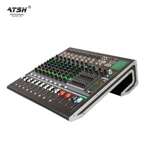 Atsh Be-10 Mixer, Konsol Audio Langsung Profesional DJ Video DSP Mixer Suara Digital