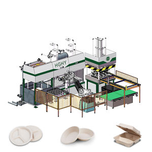 HGHY Pulp Molding Baggase Bamboo Plate Table Ware Making Machine
