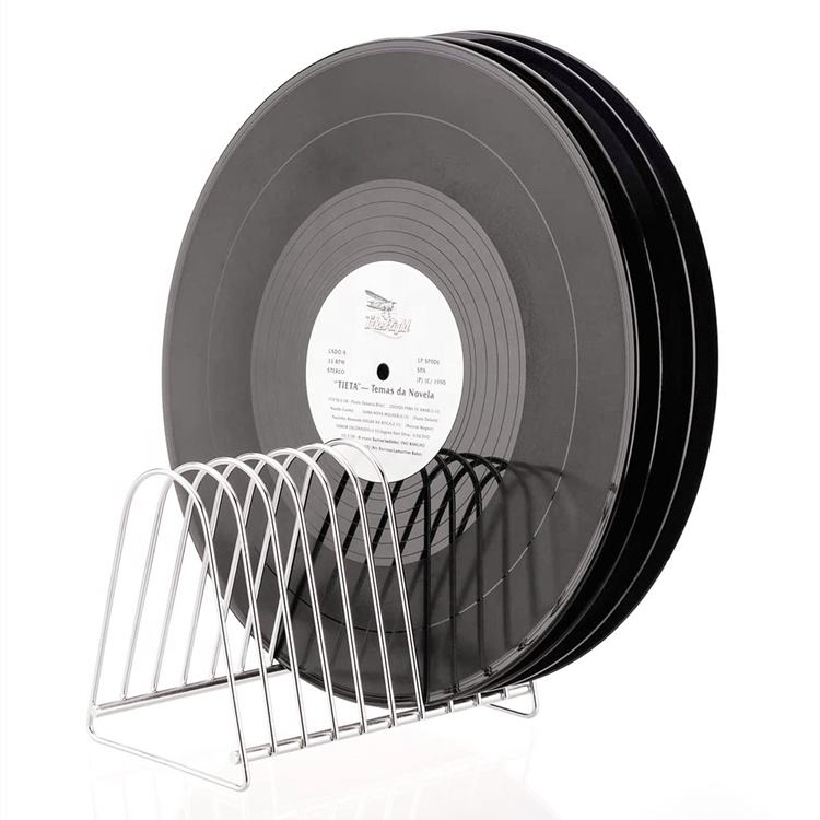Black Record Albums Stand Vinyl Record Organizer Vinyl Record CD Storage Holder