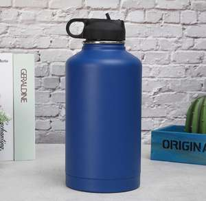 Termos Menyimpan Panas dan Dingin Vacuum Flask, 64Oz Stainless Steel Insulated Bir Growler Botol 64Oz Growler Botol Stainless Steel