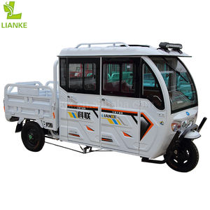 LK1500FC-1 solar electric tuk tuk/electric battery operated three wheel vehicle for 3-4 passengers and cargo made in China