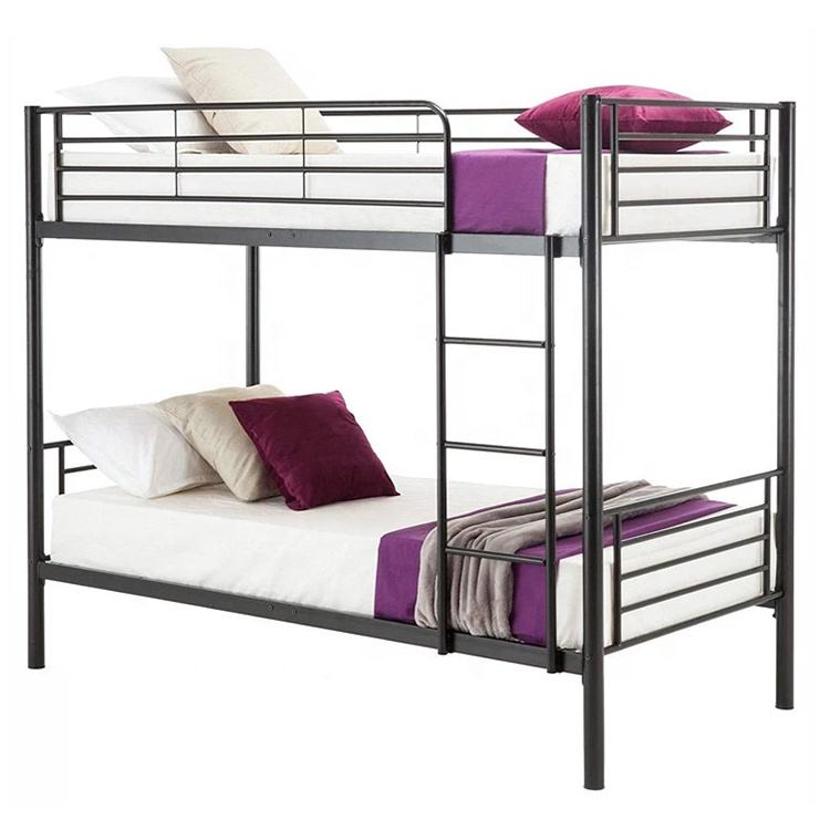 Dormitory Twin Full Bunk Bed with Ladder & Storage Single Designs Style Steel Bed