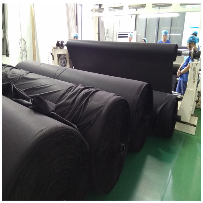 Factory price customized laminated printing pp spunlace nonwoven fabric and customized different pattern black nonwoven fabric