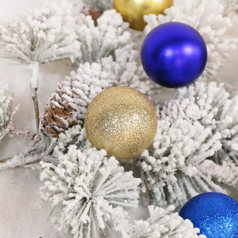Wedding Decor Balls 2021 New Design High Sales Christmas Ball For Holiday Wedding Party Decoration Supplies Hook Ornament Craft Gifts