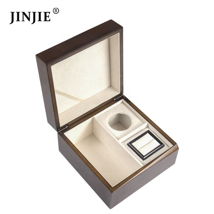 Wholesale good quality wood tie pocket and cufflinks gift box