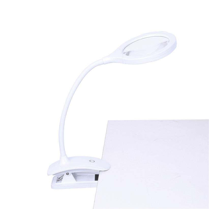 5X 10X Table Desk Top Lamp 15個Led Light Flexible Magnifying Dimmable Reading Led Desktop Magnifying Glass With Clip