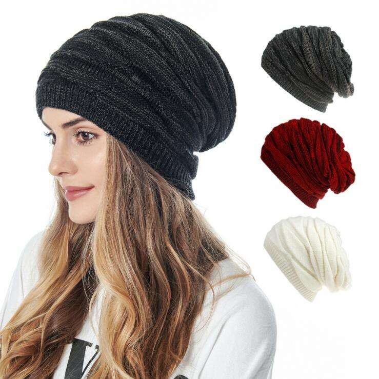 Slouchy Beanie Hat for Women Winter Warm Knit Oversized Chunky Thick Soft Ski Cap