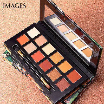 IMAGES 12-color eyeshadow palette waterproof sequins mashed potatoes pearlescent long-lasting waterproofno-blooming
