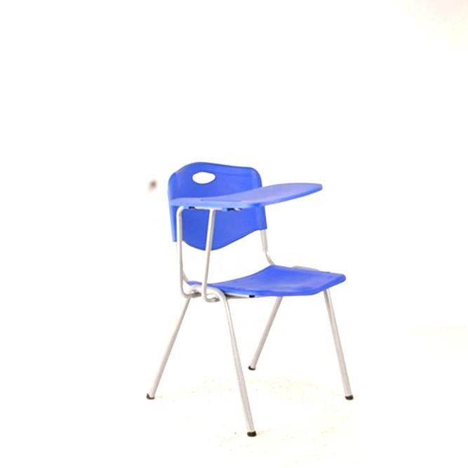 Simple design multifunctional folding plastic chair with writing pad for students study train chair plastic office chair