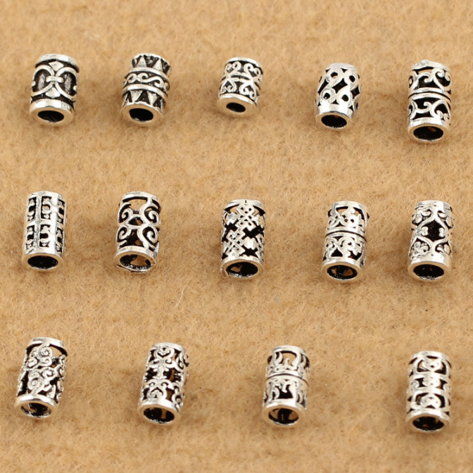925 sterling silver spacer beads tube beads for making bracelet