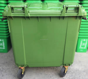 1100 liter plastic industrial dustbin mobile waste container garbage container trash can four wheels