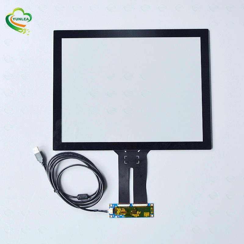 Yunlea Glass Glass structure ILITEK EETI controller board 15 inch capacitive touch panel for Touchscreen monitor