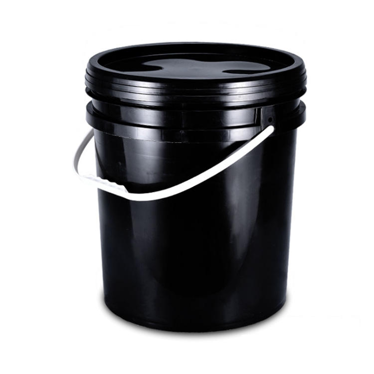 5 Gallon 20L Black Round Color Bucket Plastic Pail Bucket Plastic