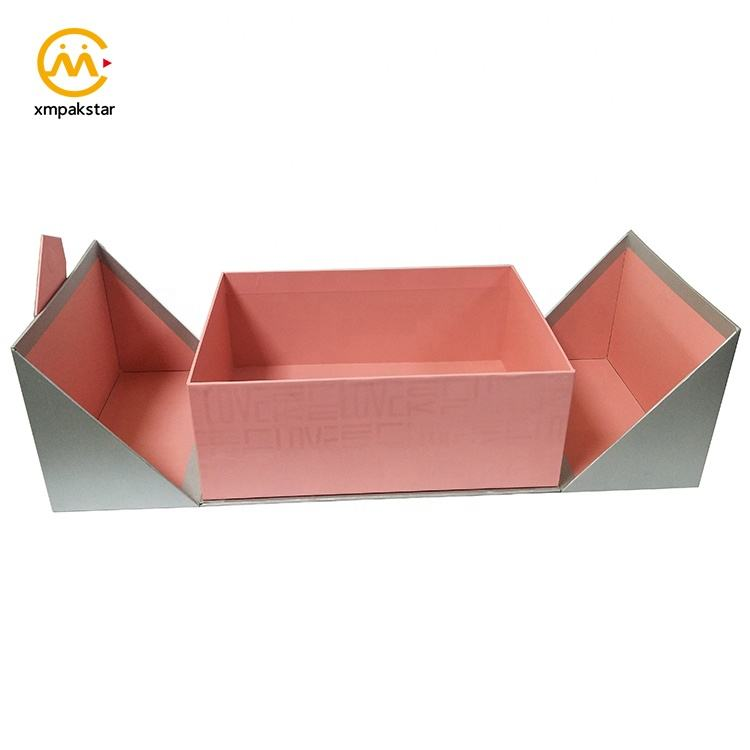 Luxury customized large cardboard double door wedding favors gift box for dress packaging