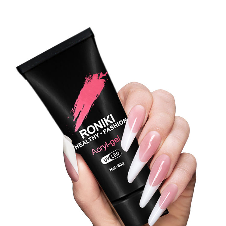 Hot Selling OEM Roniki Glass Poly Gel Bright Gel for Nail Extension UV Nail Gel Polish