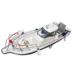 China FFB960D High Speed  Cabin Fiberglass Small Boat Hulls Fishing For Sale