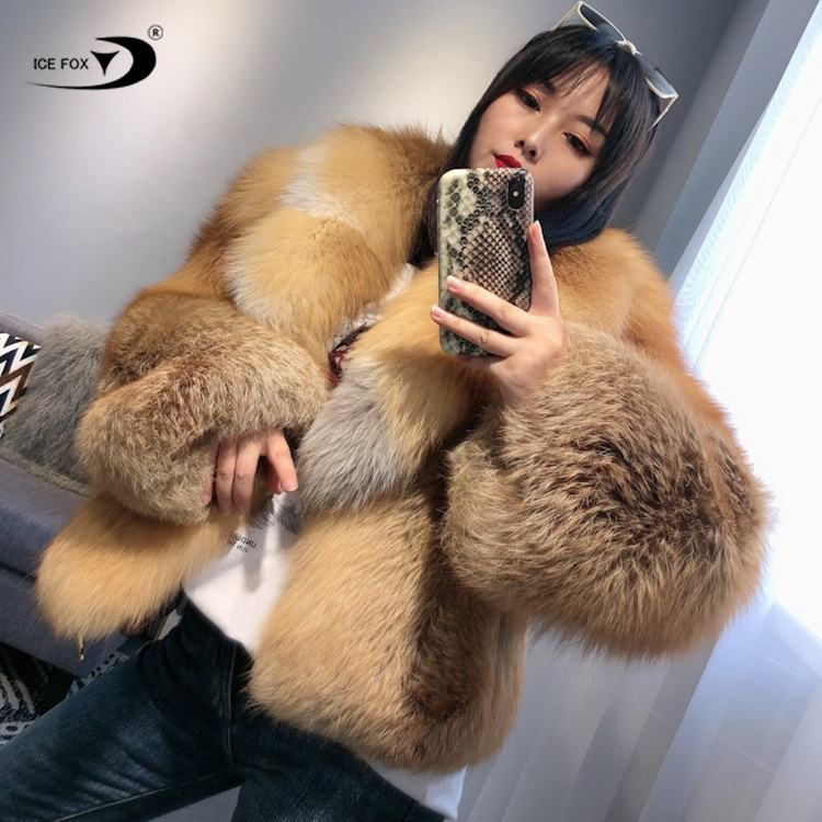 High-End Custom Fox Coat Faux Leather Jacket Winter Fur Women'S Clothing Real Fur Coat