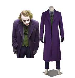The Dark Knight Cosplay Costume The Joker Cosplay Jacket Shirt Pants Full Set for Adult Halloween Costume