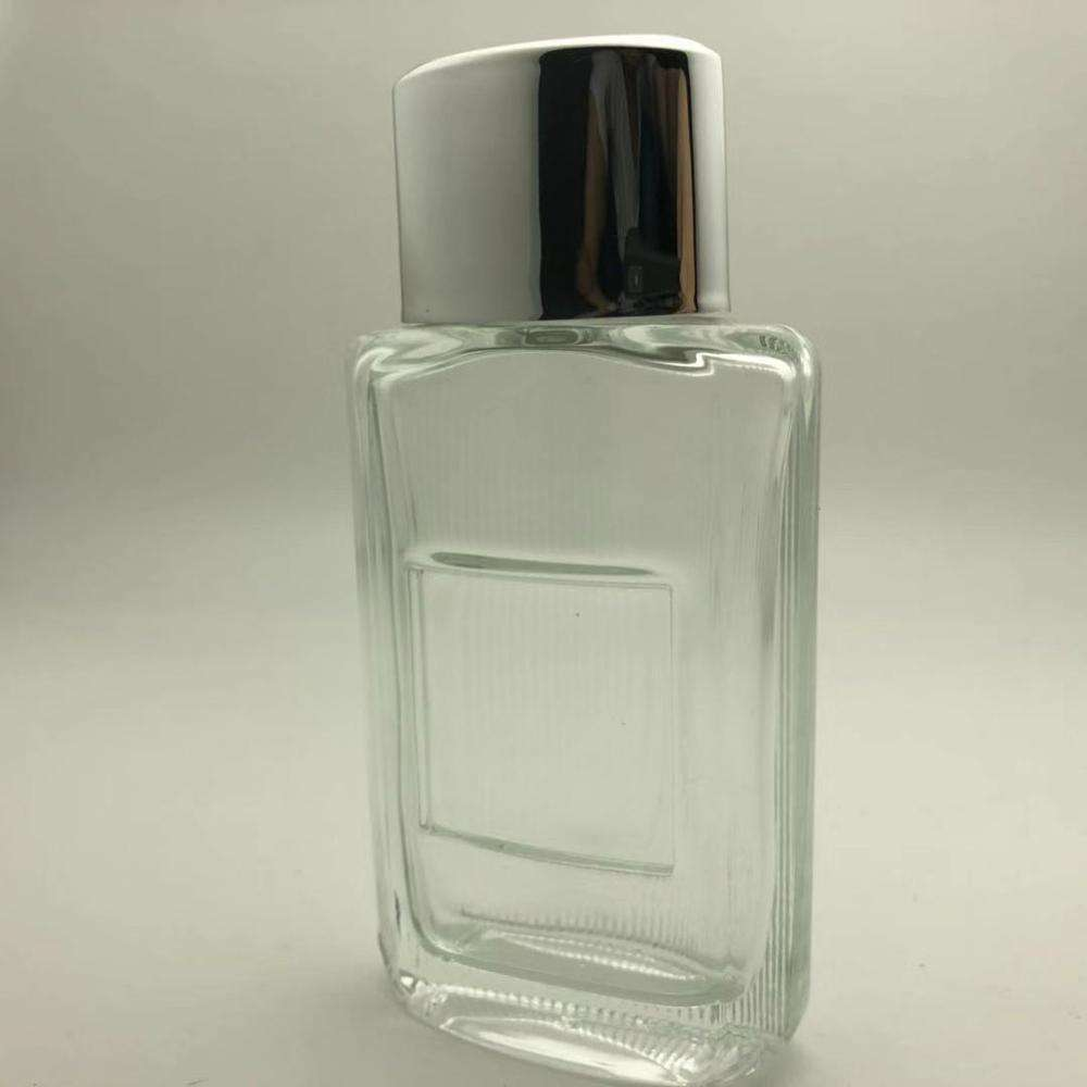 Fancy square metal plate empty perfume spray bottle 50ml