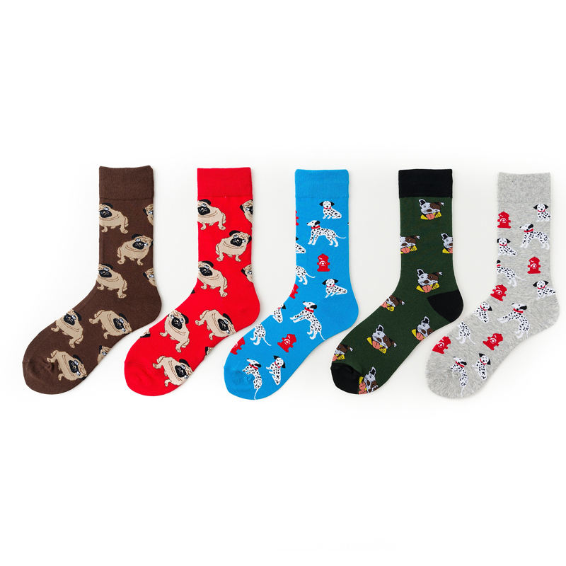 wholesale cheapest cotton sock casual kids cycling animal dog men socks