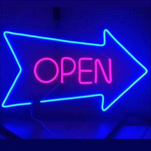 Flex Cafe 24 Open Neon Light Uithangbord Beer Shop Bar Club Led Open Custom Neon Sign