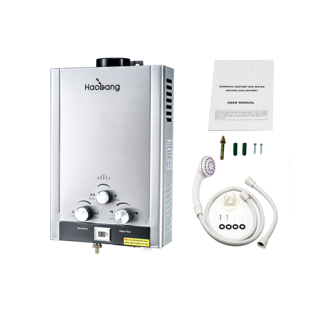retail/resale 6liter gas water heater LPG